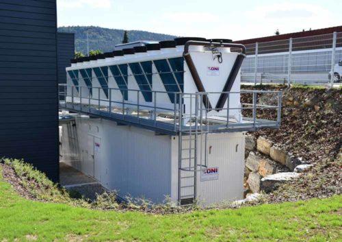 ONI Containerkuehlanlage für Rechenzentrum